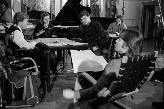 0_dJohn Cage -tapahtuma 1983 mm. Tuija Hakkila ja Esa-Pekka Salonen Kuva Sakari Viika